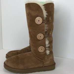 UGG tall chestnut sheepskin boots SZ:8
